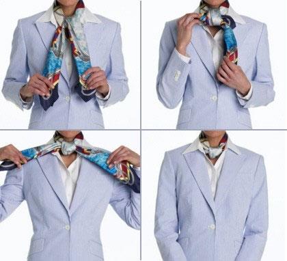 Как завязать платок Как правильно завязывать шейный платки красиво ... | 382x420